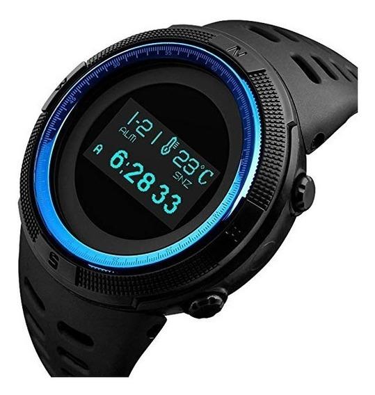 Reloj Para Hombre Tonnier De Cuarzo Azul Militar Negro