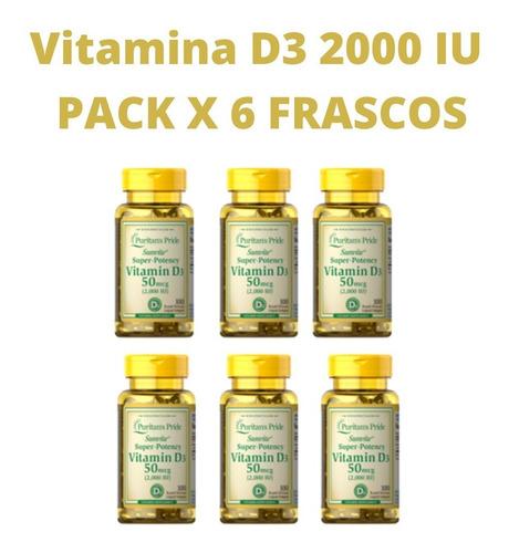 Vitamina D3 Lote X 6 Frascos Puritan's Pride Americanas