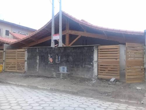 Imagem 1 de 10 de Casa Nova A Venda Em Mongaguá Ref-731