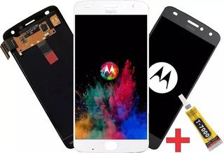 Frontal Touch Display Tela Moto Z2 Play Xt1710 Novo + Cola