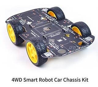4wd Robot Kit De Chasis Con Motor De 4 Tt Para Arduinoraspbe