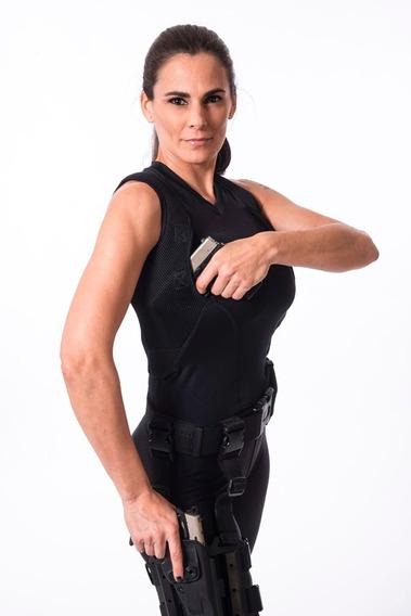 Musculosa Tactica Cover Cop Spy Portaarmas Sobaquera Mujer