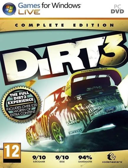 Dirt 3 Complete Edition - 100% Original (steam Key)