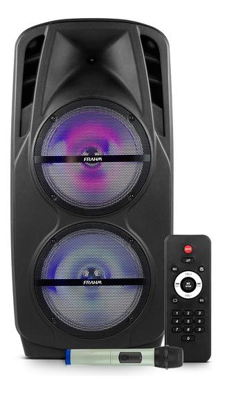 Caixa De Som Amplificada Frahm 600rms Multiuso Bluetooth Usb