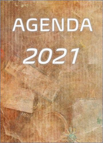 Imagem 1 de 7 de Agenda 2021  Vintage Mármore
