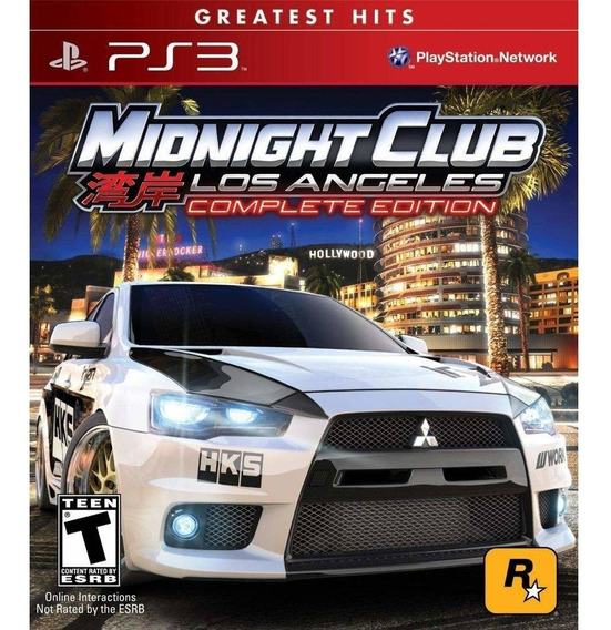 Midnight Club Los Angeles Complete Edition Great. Hits - Ps3