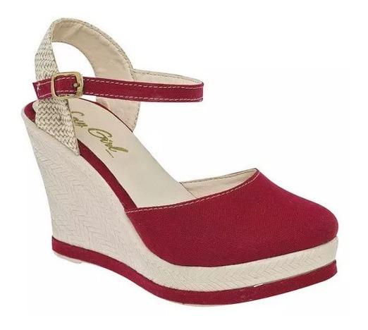 Plataforma/sandalia Rojo