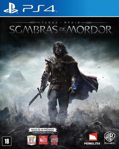Middle Earth Shadow Of Mordor Ps4 1 Digital 1 Psn