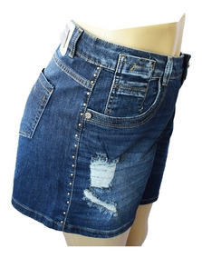 Shorts Sawary Jeans Plus Size Tamanho 50 Com Lycra - 257352