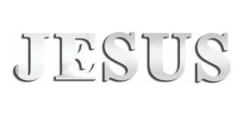 Imagem 1 de 2 de Espelho Decorativo Escrito Jesus - 120x30 Cm - Lançamento