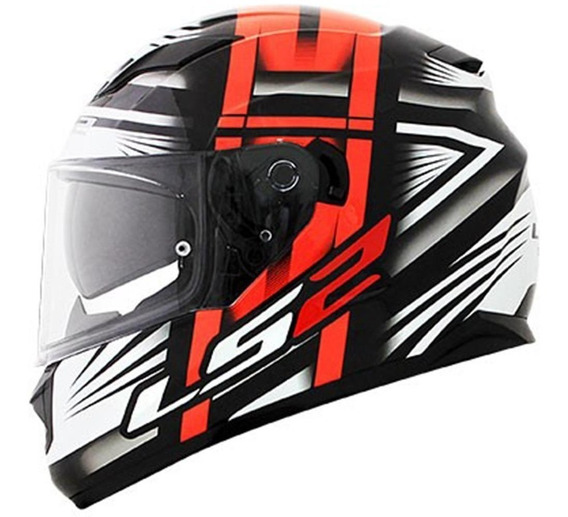 Capacete Ls2 Ff320 Stream Bang Black/red