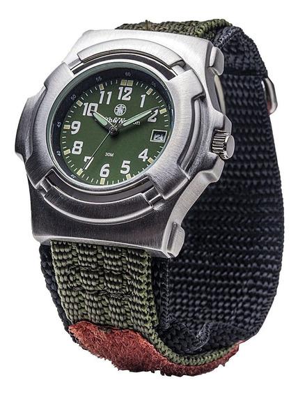 Smith & Wesson Mens Lawman Nylon Strap Watch Olive Drab