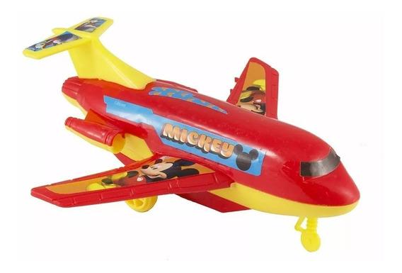 Brinquedo De Fricção Do Mickey Oficial Avião - Dy-173