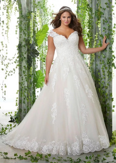 Vestido Noiva Todos Os Tamanhos Inclusive Plus Size + Saiote + Veu + Coroa Sob Medida - Disponivel No Branco
