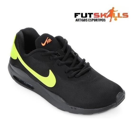 Tênis Nike Air Max Oketo Masculino - Preto E Verde Limão