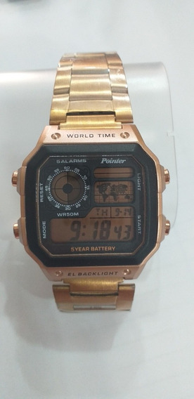 Relógio Masc Pointer Dourado Prova D