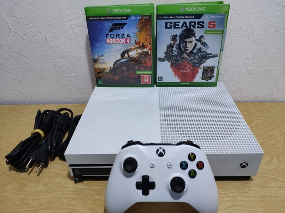 Xbox One S 500gb 1 Controle + Forza 4 + Gears Of War 5