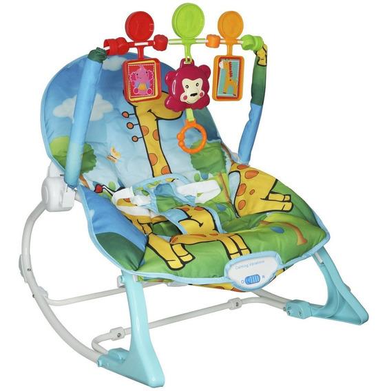 Cadeira Cadeirinha Bebê Descanso Azul Vibra Musical Balanço