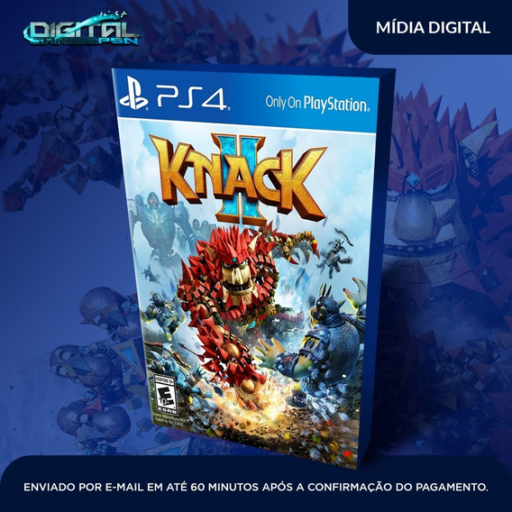 Knack 2 Ps4 Psn Jogo Digital Envio 10 Min Original Digital
