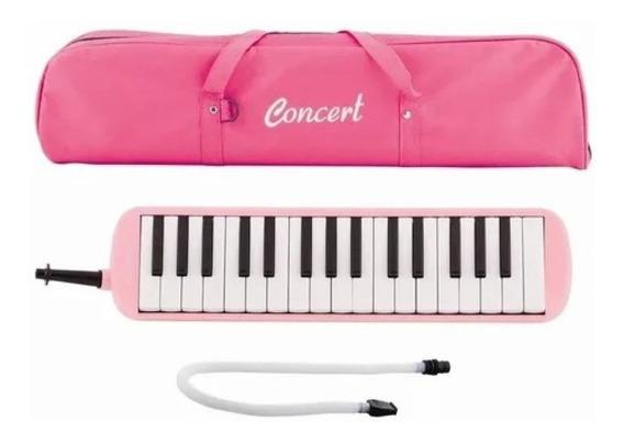Escaleta 32 Teclas Rosa Pink Concert C/ Capa E Mangueira Nf