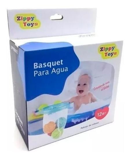 Juguete Para Agua De Bebe Aro De Basquet Pelotas Zippy Toys