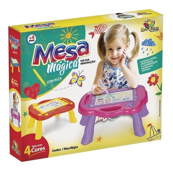 Lousa Mesa Magica Interativa Infantil Didatica Tela 4 Cores