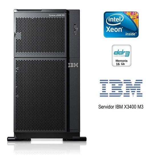 Ibm System X3400 M3 2 Six Core E5649 2.53ghz 16gb 4 Hd 146gb
