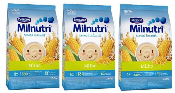 Kit 3 Cereal Milnutri Milho - 230g Cada