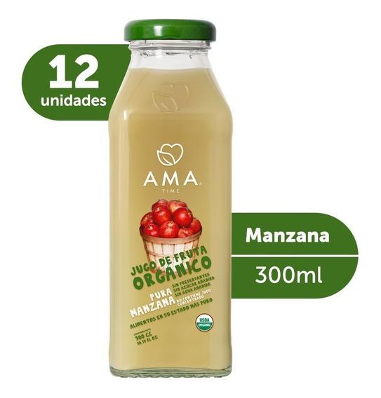 Ama Jugo Manzana Orgánico 12x300cc