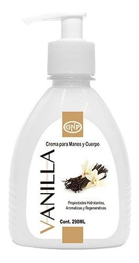 Crema Para Manos Y Cuerpo Gnp Vanilla 290ml Con Valvula