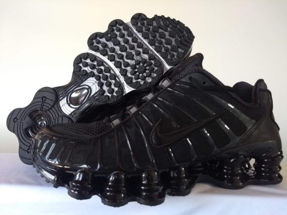 Original Nike Shox Tl Preto Triplo Bv1127 001 39.5 12 Molas