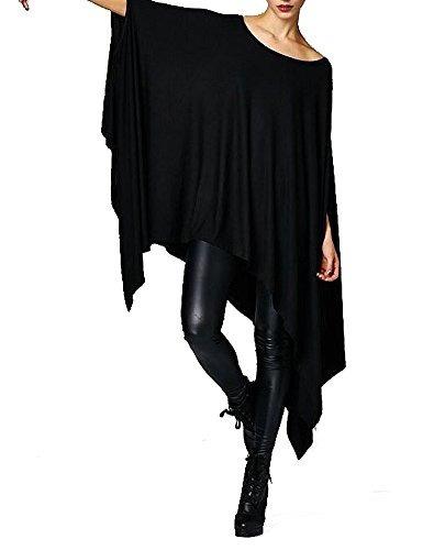 Imagen 1 de 8 de Vivicastle Womens Loose Bat Wing Dolman Poncho Túnica Vesti