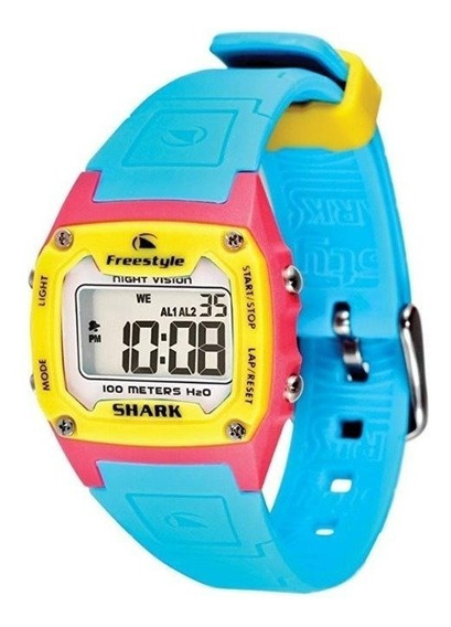 Relógio Freestyle Fs80976 Digital Shark Classic Solid Cyan