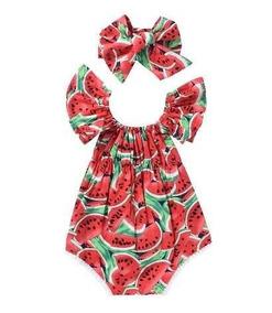 Body Infantil Menina Melancia Verão (selecione O Tamanho)
