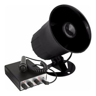 Bocina Sirena Pyle Alta Potencia 30w Microfono Mano 6 Tonos