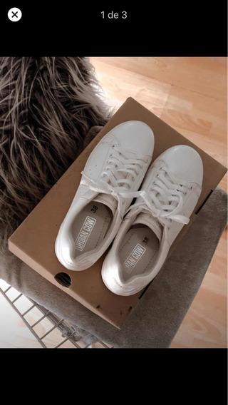 Zapatillas Urbancow - Modelo Dior Cuero Blanco 38
