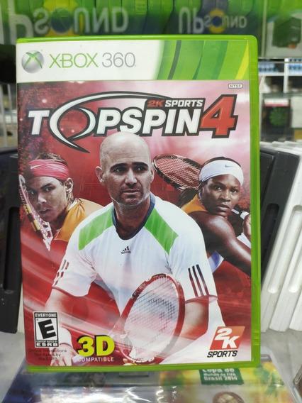 Jogo Top Spin 4 Xbox 360, Mídia Física Usado