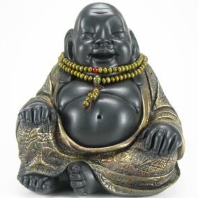 Buda Da Felicidade Com Japamala Madeira -hindu - Estatueta