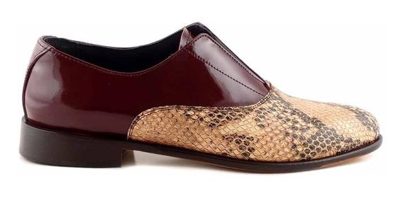 Zapatos Mujer Cuero Mocasines Vestir Briganti - Mccz03223