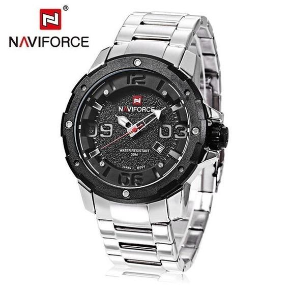 Relogio Masculino Naviforce Modelo Nf 9078 P Top De Linha