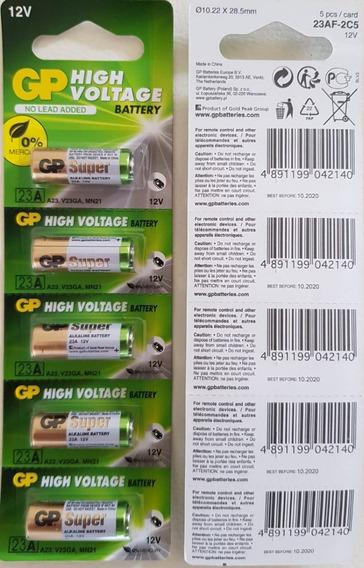 Bateria/pilha Gp Alcalina 12v High Voltage 10cartelas C/5 Un