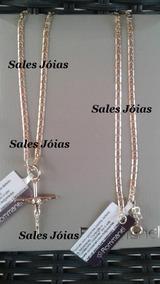 Cordão Masculino + Pingente Crucifixo Rommanel 530614 540027