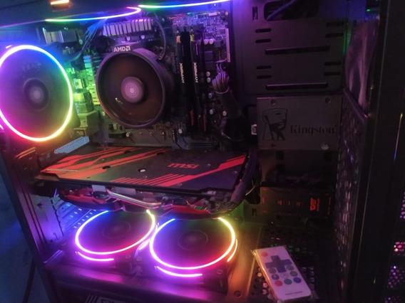 Pc Gamer Ryzen 3600, B450, Rx 580 8gb, 16gb Ram, Ssd, Fonte