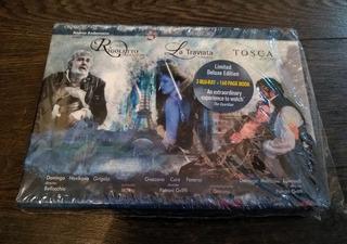 Verdi Rigoletto La Traviata Tosca Box Set 3 Blu Ray Opera