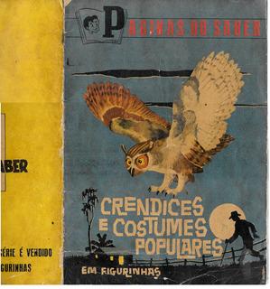 R509 Álbum De Figurinhas Paginas Do Saber Crendices Completo