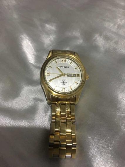 Relógio Technos Dourado Lindo Baixei Para Vender Logo Barato