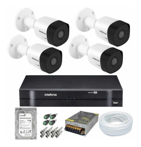 Kit Com 4 Câmeras Intelbras