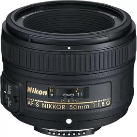 Lente Nikon 50mm F/1.8g Af-s Fx Autofoco Fora Da Caixa Nfe