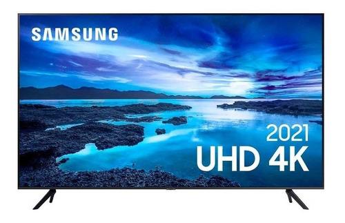 """Imagem 1 de 5 de Smart TV Samsung UN55AU7700GXZD LED 4K 55"""" 100V/240V"""