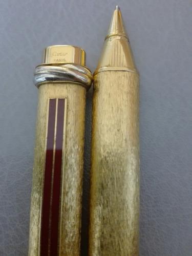 Lapicera Le Must De Cartier Vendome Oval Gold/ Plated Bordea